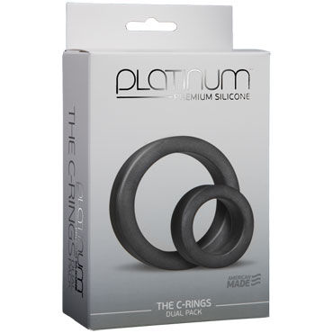 Doc Johnson Platinum Premium Silicone The C-rings Два эрекционных кольца