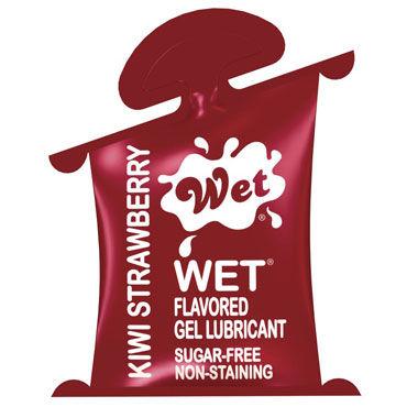 Wet Flavored Kiwi Strawberry, 10 мл, Увлажняющий гель-лубрикант на водной основе