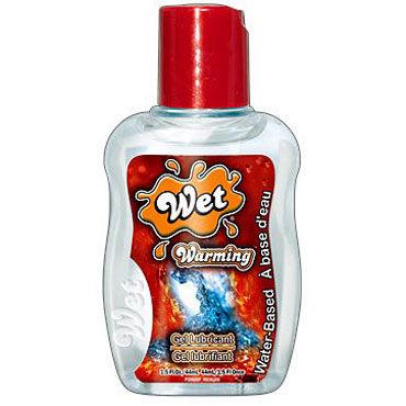 Wet Warming, 44 мл, Прозрачный разогревающий лубрикант от condom-shop.ru