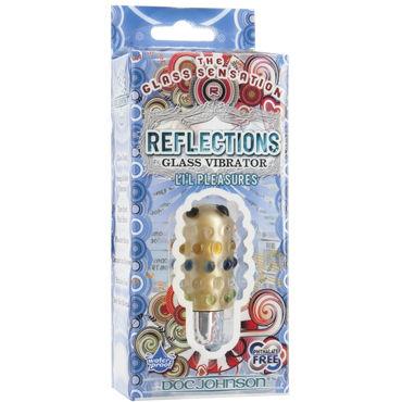 Doc Johnson Reflections Li'l Pleasure, золотой Уникальная вибропуля из стекла