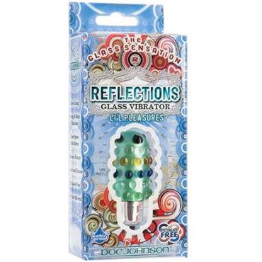 Doc Johnson Reflections Li'l Pleasure, зеленый Уникальная вибропуля из стекла