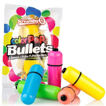 Screaming O ColorPop Bullets, розовый Яркая водонепроницаемая вибропуля