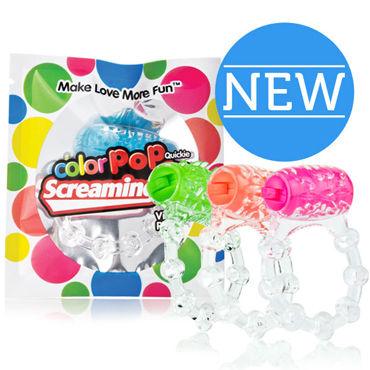 Screaming O Color Pop Quickie, голубой Классическое кольцо с вибрацией