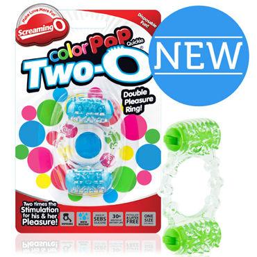 Screaming O ColorPop Two O, голубой Кольцо с двумя виброэлементами