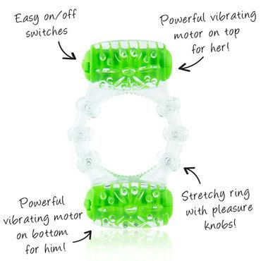 Screaming O Color Pop Two O, зеленый Кольцо с двумя виброэлементами