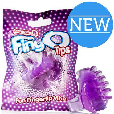 Screaming O FingO Tips, голубой Одноразовый стимулятор на пальчик