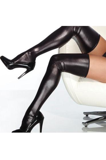 """Coquette чулки, С """"мокрым"""" блеском - Размер Универсальный (XS-L) от condom-shop.ru"""