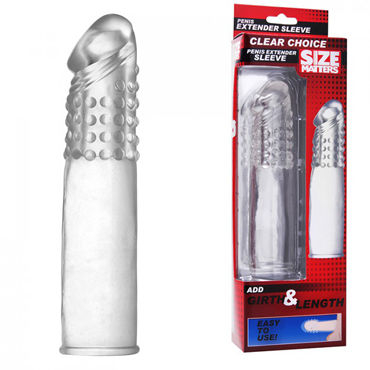 XR Brands Size Matters Extender Sleeve, Насадка на пенис