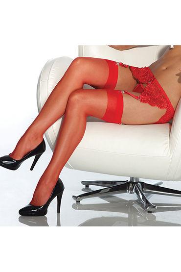 Coquette Чулки, красные С уплотненной резинкой