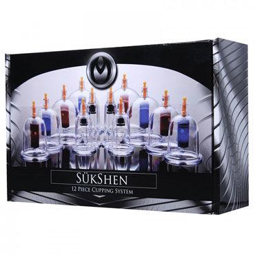 XR Brands Sukshen Вакуумный набор с 12 колбами