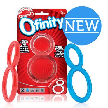 Screaming Ofinity, прозрачный Эрекционное кольцо с петлей для мошонки