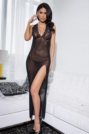 Coquette эротичное платье, черный С кружевным лифом и обнаженной спиной