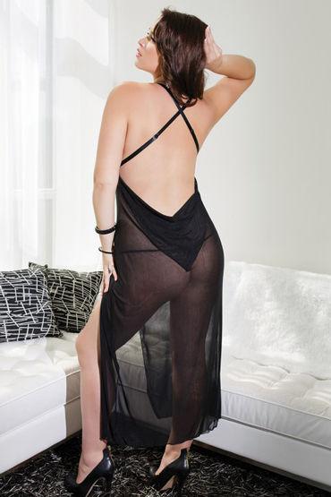 Coquette ночное платье, черное С обнаженной спинкой
