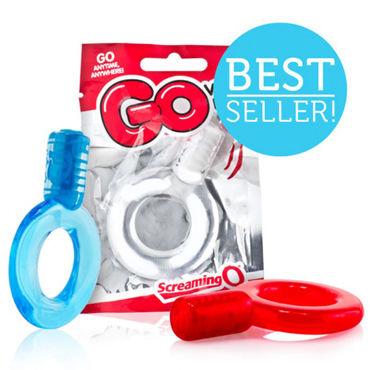 Screaming O GO, красный Эрекционное кольцо с вибрацией
