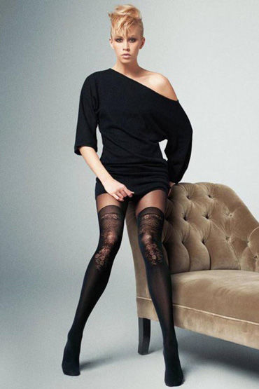 Veneziana Lindsay, черные Колготки с цветочным рисунком