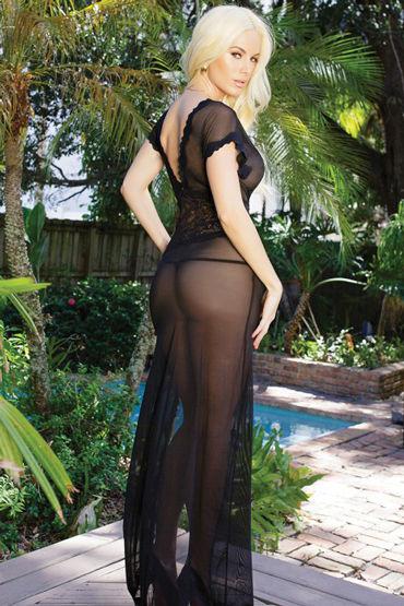 Coquette ночное платье, черное С глубоким декольте
