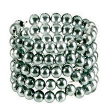 California Exotic Ultimate Stroker Beads, серебристый Кольцо из пяти рядов шариков