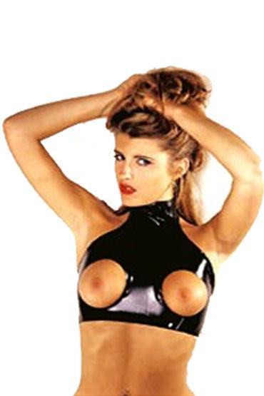 Gopaldas Rubba-Wear Латексный топик с вырезами в области груди