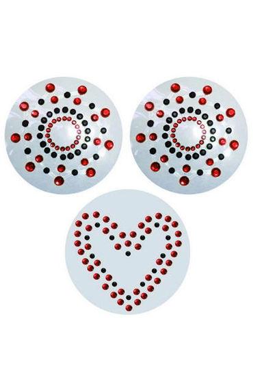 MyWorld украшение на сосок и клитор, красное Круглая форма, узор из цветных и черных точек