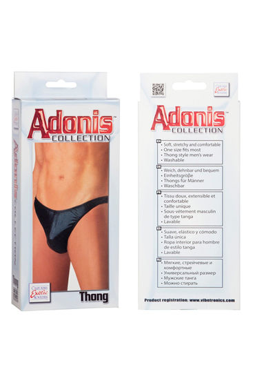 California Exotic Adonis Mens Wet Look Thong Мужские трусы-танга