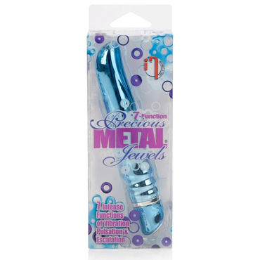 California Exotic Precious Metal Jewels, голубой Вибратор с металлическим покрытием