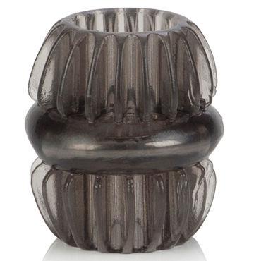 California Exotic Magnum Support Plus Single Girth Cages, серое Широкое эрекционное кольцо