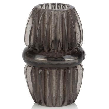 California Exotic Magnum Support Plus Double Girth Cages, серое Широкое эрекционное кольцо