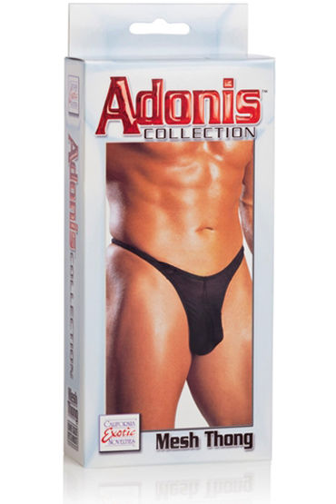 California Exotic Adonis Mesh Thongs, черные Мужские трусы-танга