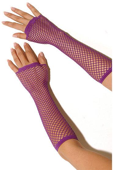 Electric Lingerie перчатки, фиолетовые, Длинные, в сеточку - Размер Универсальный (XS-L)