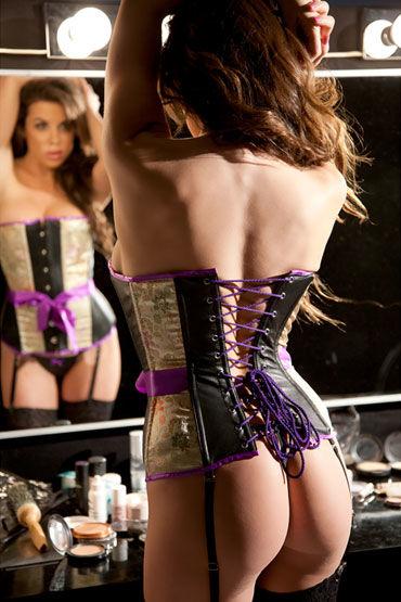 Allure Lingerie Sofia Корсет с лиловой отделкой и стринги
