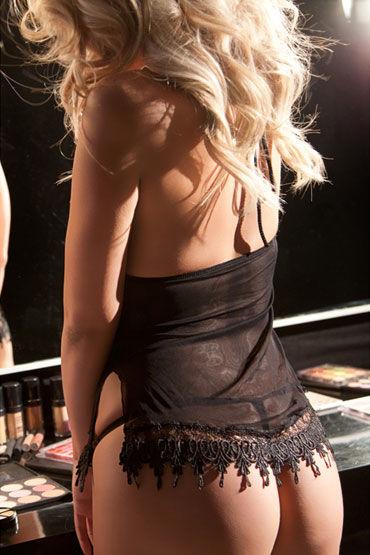 Allure Lingerie комплект Стринги и сорочка с гипюровой тесьмой