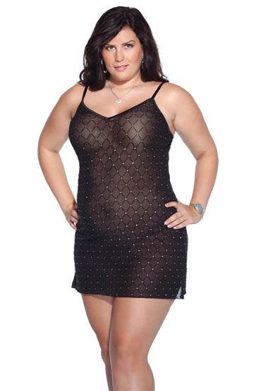 Coquette платье, В клеточку, с мерцающими стразами - Размер XL