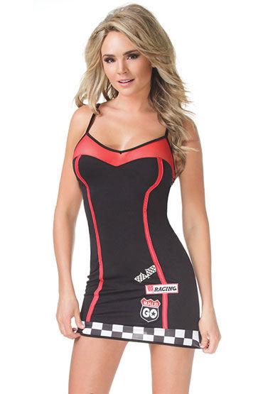 Coquette Stree Racer, Платье-футляр с символикой гонщиков - Размер Универсальный (XS-L) от condom-shop.ru