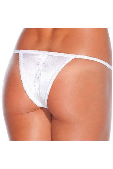 Coquette трусики, белые С разрезом open crotch