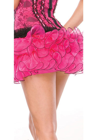 Coquette юбка, розовая С объемными рюшами