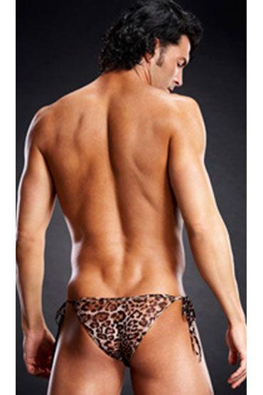 BlueLine side-tie бикини, леопардовые В сеточку, с завязками по бокам