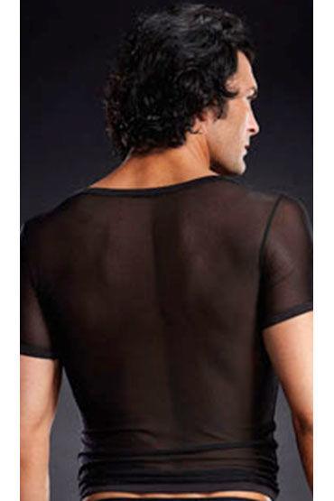 Blue Line футболка, черная С V-образным вырезом