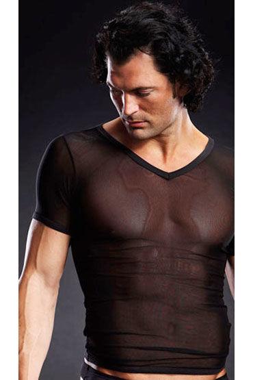 Blue Line футболка, черная, С V-образным вырезом - Размер L-XL