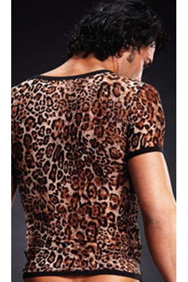 Blue Line футболка, леопардовая С V-образным вырезом