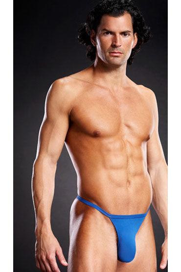 Blue Line Т-стринги, голубые, На тонких резиночках - Размер L-XL