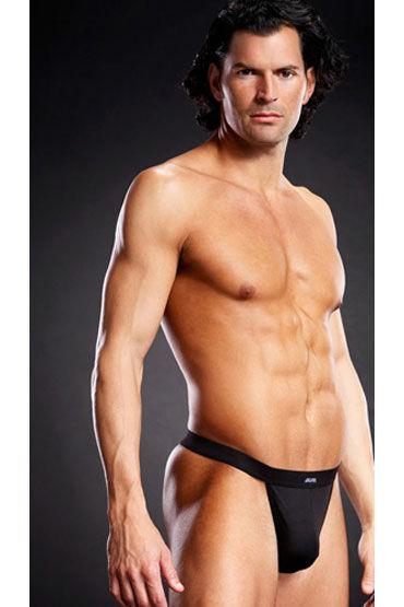 Blue Line мужские танга, черные, На широкой эластичной резинке - Размер L-XL