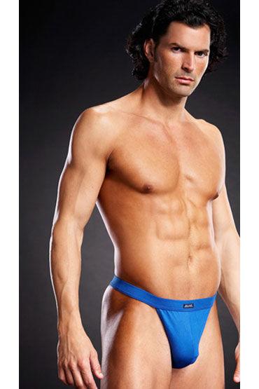 BlueLine танга, голубые, На широкой эластичной резинке - Размер L-XL