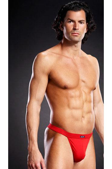 Blue Line мужские танга, красные, На широкой эластичной резинке - Размер L-XL