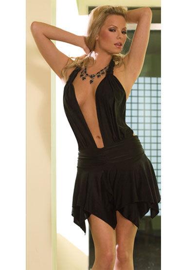 Electric Lingerie Open Mind, черное Платье с открытой спиной