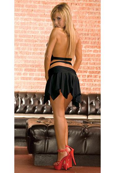 Electric Lingerie платье, черное С ассиметричной юбкой