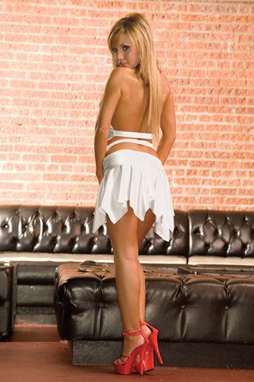Electric Lingerie платье, белое С ассиметричной юбкой