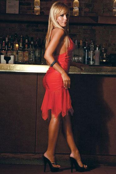 Electric Lingerie платье, красное С прозрачным подолом