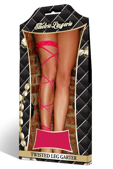 Electric Lingerie Criss-Cross, фуксия Подвязка для танцев go-go