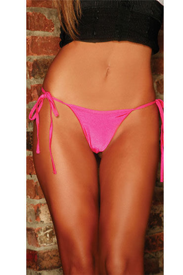 Electric Lingerie стринги, розовые Неоновые, на боковых завязках