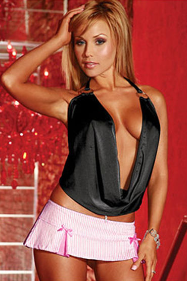 Electric Lingerie Club Wear, черный Топ с глубоким декольте